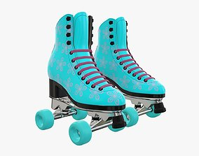 3D Quad roller skates with boots