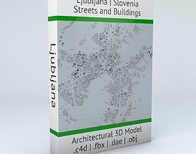 3D model Ljubljana Streets and Buildings