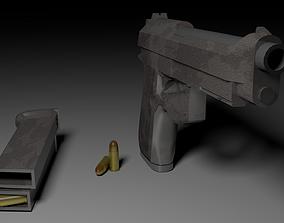 Beretta 92 3D asset VR / AR ready