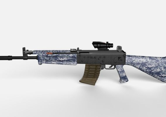 INSAS 'Blizzard' with ACOG sight and Snow Camo