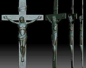 Crucifix STL model - 3D relief file for CNC router - 1