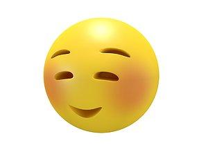 Smiling Face 3D asset