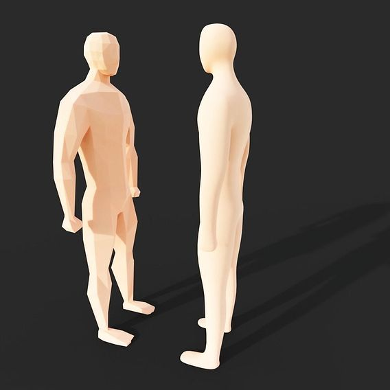 Low poly charecter model