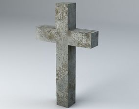 3D model realtime Gravestone 1 Low Poly