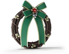3D model Decorative Christmas Holiday Wreath