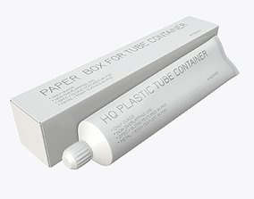 Toothpaste with box 04 3D