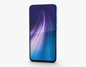 3D Xiaomi Redmi Note 8 Neptune Blue