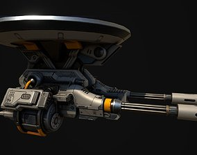 Advanced Gatling Turret 3D model