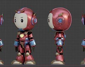 animated Cute Cartoon Robot 3D Character Animation
