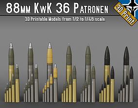 88mm KwK 36 Patronen --- 1-2 to 1-48 scale models ---