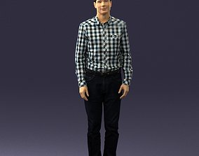 Man in plaid shirt 0385 3D Print Ready