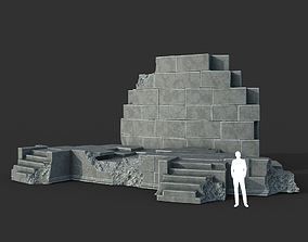 3D model Low poly Ancient Roman Ruin Construction 07 - 1