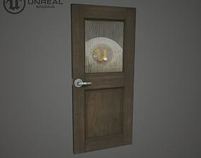 3D model game-ready Wooden door