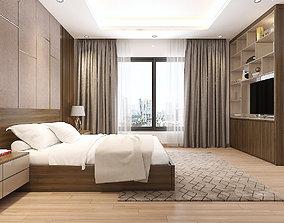 3D Bedroom and closet modern