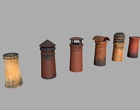 3D asset Chimney Pipes