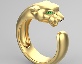 3D printable model panther ring cartier