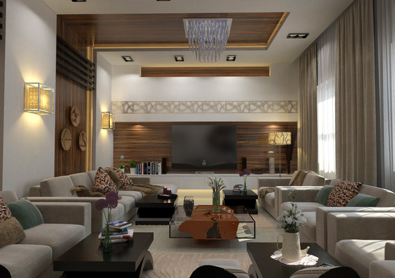 Majlis interior - Drawing Room Interior 3D model