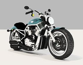 Harley Davidson Motorcycle 3D model bicyclis