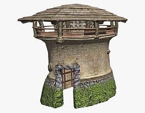 3D asset Round Tower
