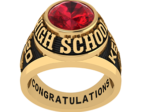 3D printable model Personalized Class Ring 1 - Oval Gem