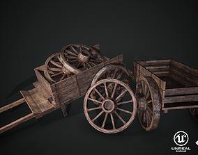 Medieval Wagon 3D asset