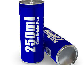 3D asset Drinks Can - 250ml Slim
