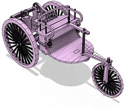 Benz Patent Motor Car The first automobile 3d