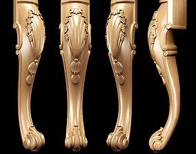 3D model Classic carved leg
