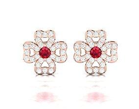 gem luxury Women earrings 3dm render detail