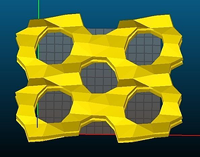 MFI-type Zeolite 3D print model
