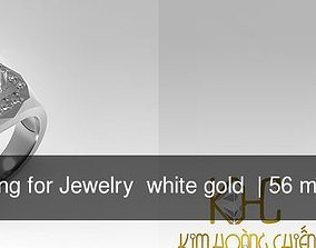 58 Ring for Jewelry white gold 3D model
