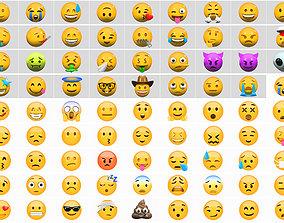 Emoji huge pack collection 76 3D model