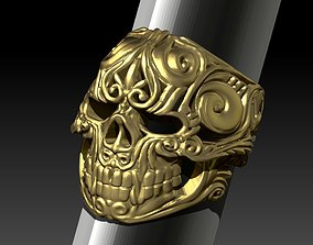 Heavy Ring Boss Chief Skull Jewel Man 3D print model