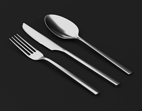 3D model Knive - Fork - Spoon - render ready