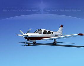 Piper Cherokee Arrow 3D model rigged