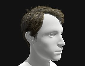 3D Hair Male Side Part Hairstyle game-ready