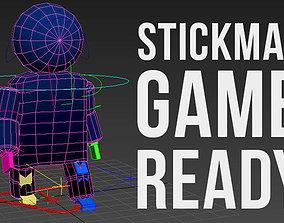 Low Poly Stickman 3D model