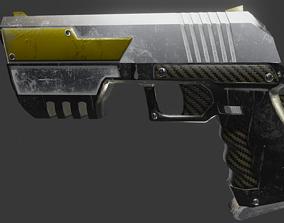Sci-fi Cyberpunk Pistol 3D model