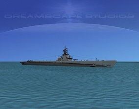 3D Gato Class Submarine SS246 USS Croaker