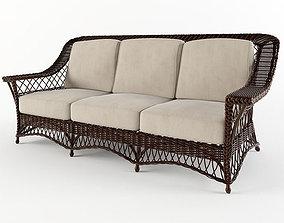wicker sofa 3D