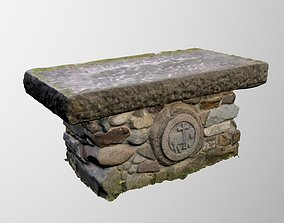 3D church altar scan from a real object architectural