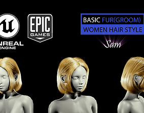 3D Sam Grooming Real-Time Hairstyle Unreal Engine