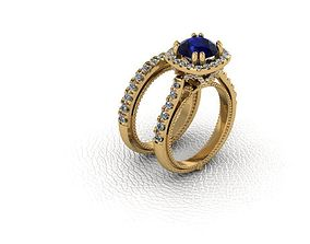 3D printable model Ring diamante