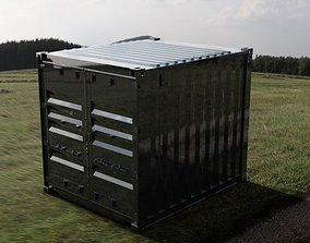 10FT ISO Shipping Container 3D model