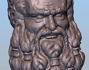 Dwarf head 3D print model