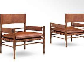 CB2 Nomad leather safari chair 3D