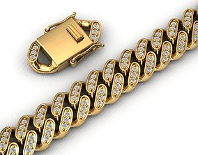 12MM CUBAN LINK CHAIN DIAMOND 3D printable model