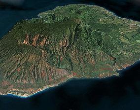 3D asset Kauai Island