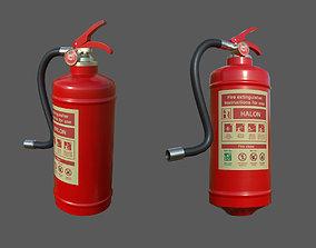 Fire extinguisher - Halon 3D asset