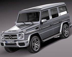 3D model Mercedes-Benz G63 AMG 2013 retro